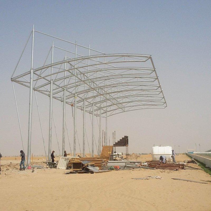 PVDF/PTFE/ETFE stadium shade tent tensile membrane structure