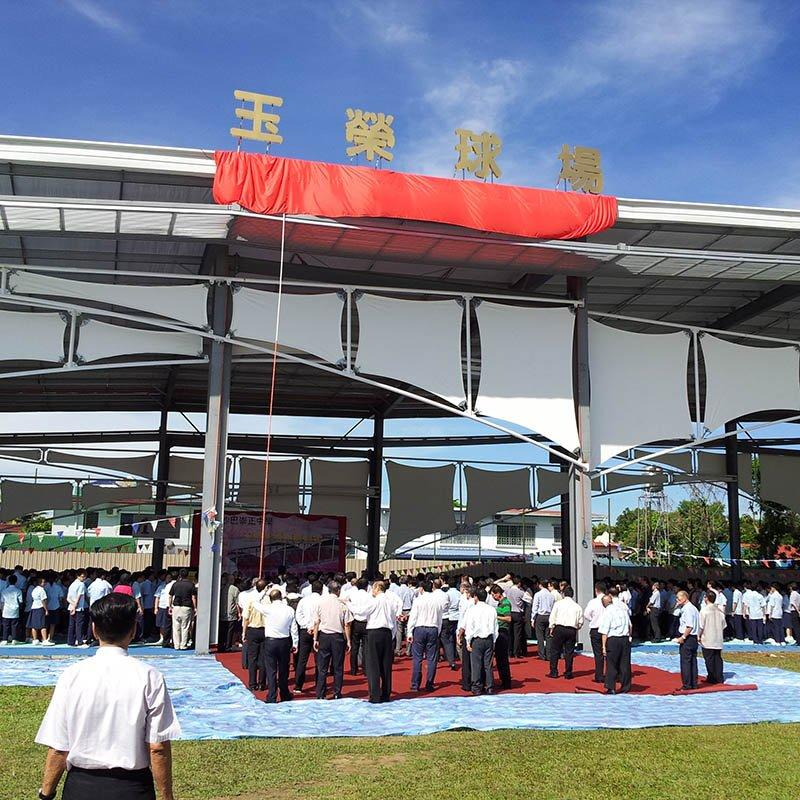 Free design luxury sports canopy tent pvdf tensile stadium membrane structure