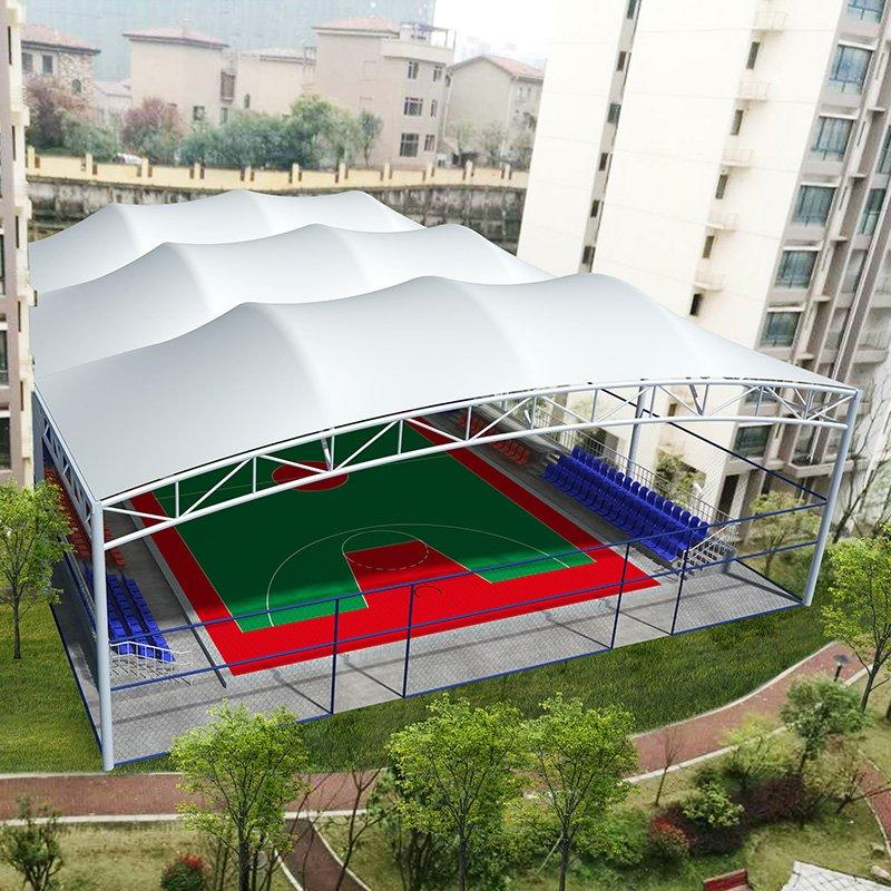 Highly tensile stadium cover membrane structure building basketball court