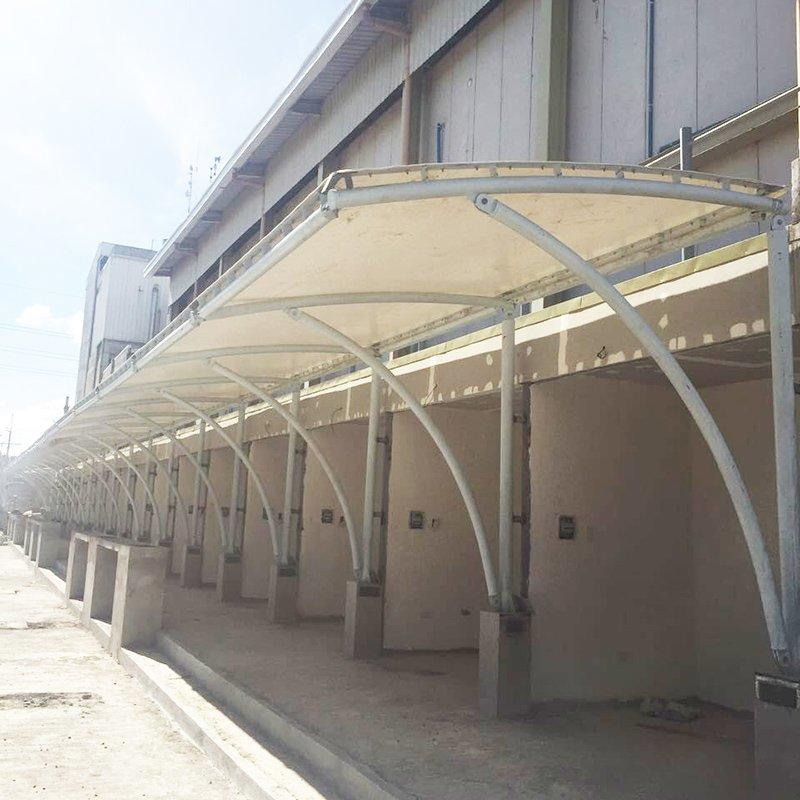 PVDF/PTFE/ETFE tensile sun shade membrane structure tent