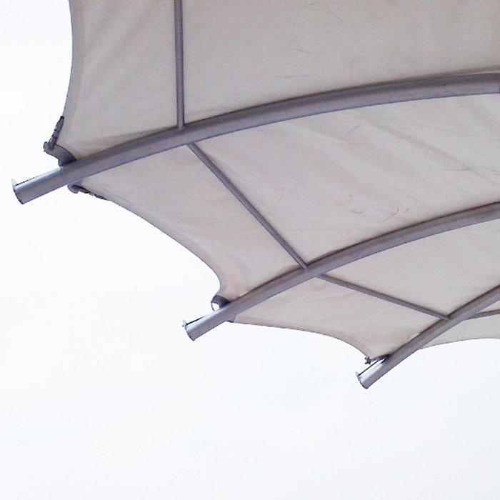 Commerical plaza landscape steel structure tensile membrane material tensile canopy tent