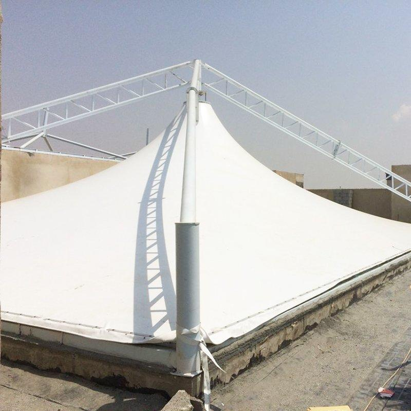 Roofing pvdf shade tent membrane structure architecture