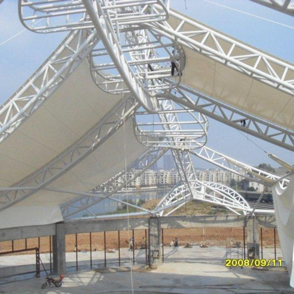 PVDF/PTFE/ETFE stadium roof membrane structure tent