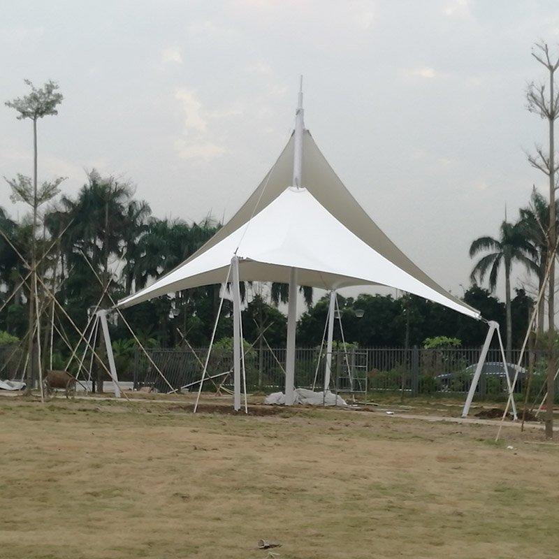 PVDF architectural landscape membrane structure umbrella canopy