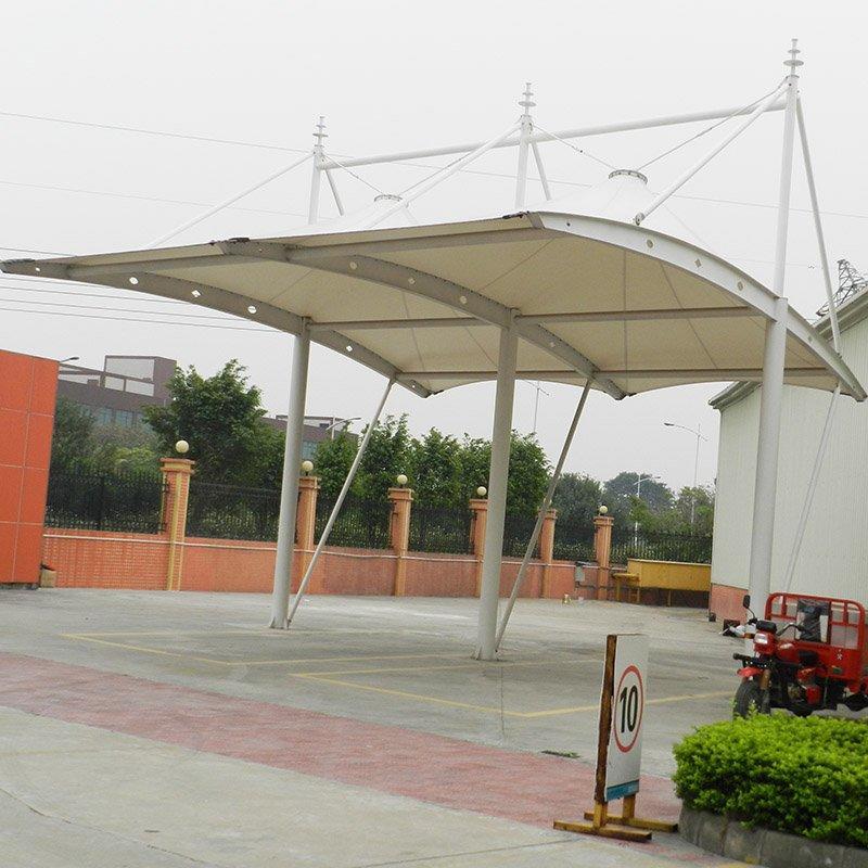 Car parking tent membrane structure