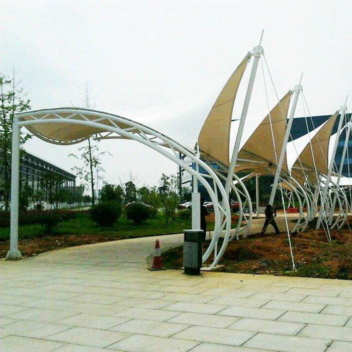 Scenic Arc Shading Stretch Film Space Structure Shade