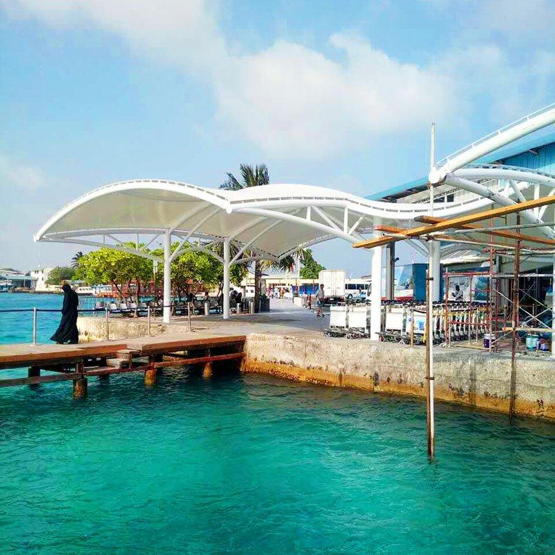Seaside Scenic Windproof Membrane Structure Awning