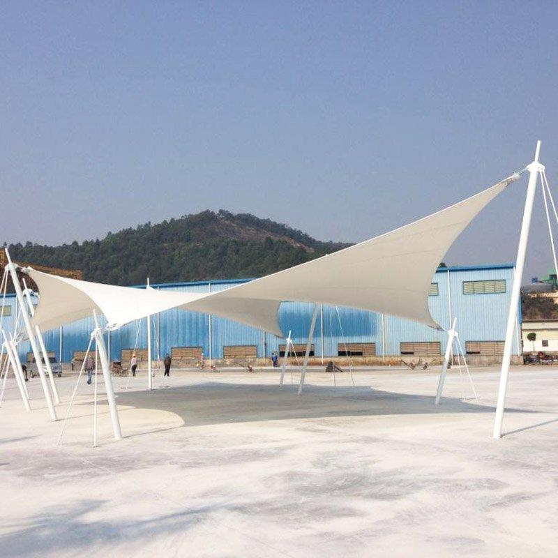 PVDF/PTFE/ETFE canopy shade tensile membrane structure