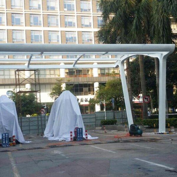 Park Entrance-Exit Steel Membrane Structure Awning