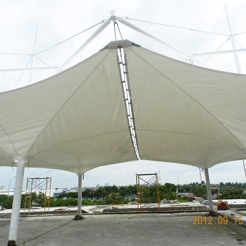 Strong steel structure pizza marquee canopy membrane structure