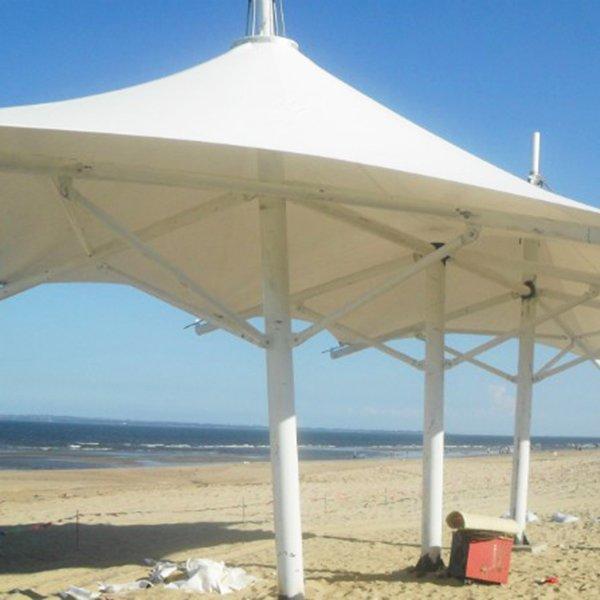 Outdoor garden gazebo waterproof cover tensile etfe membrane steel structure pvdf landscape tent