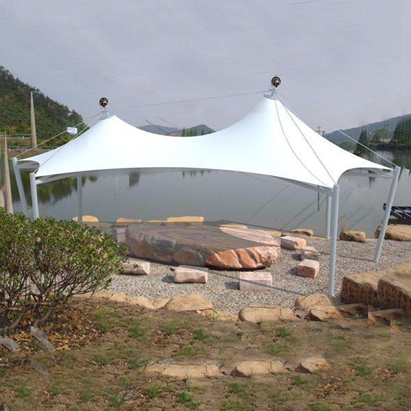 Manufacturer garden walkway sunshade sunroof garden tent gazebo membrane structure canopy