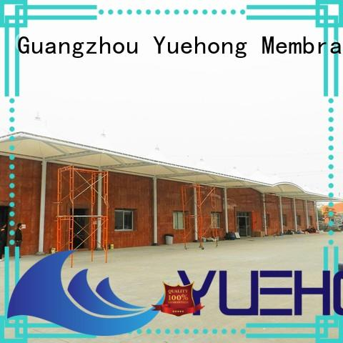 Yuehong stable car parking shades design wholesale for schools