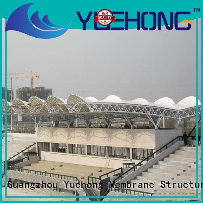 Yuehong basketball tensile membrane structure for volleyball courts