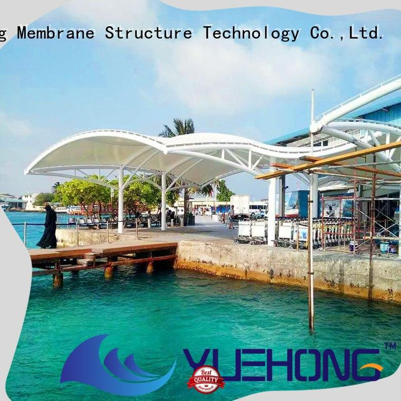 Yuehong colorful tension membrane structures good light transmission performance for gymnasiums