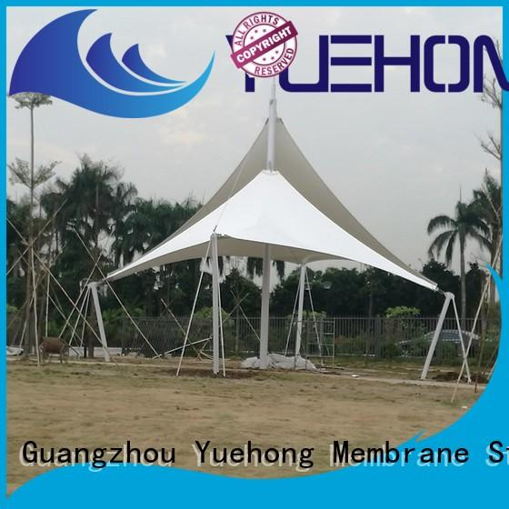 Yuehong tension tensile shade structure for leisure for parks