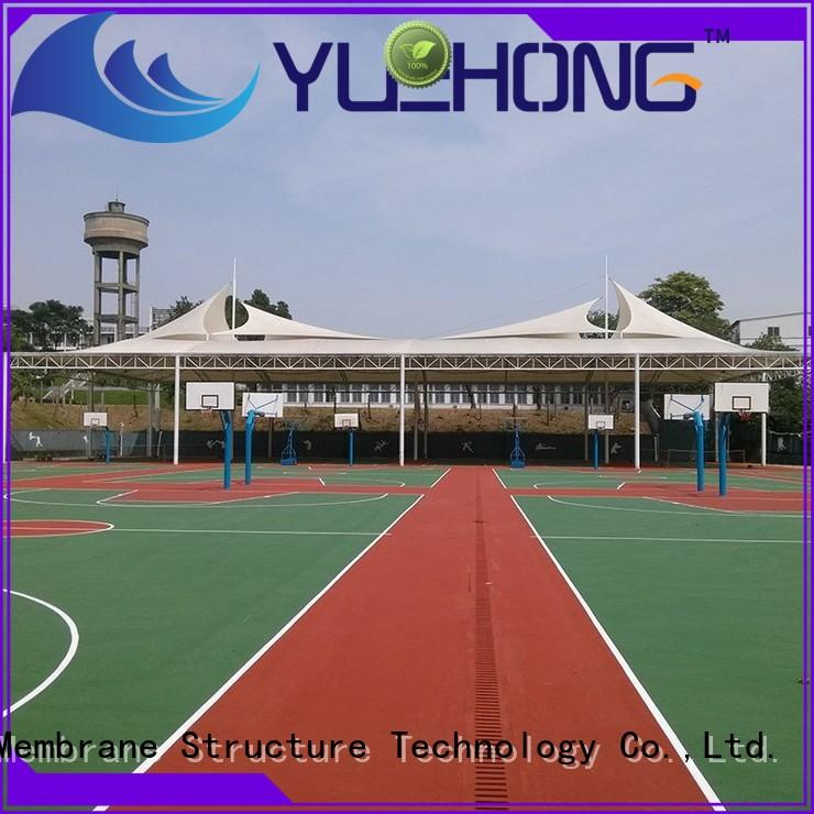 Yuehong structure canopy for car parking factory price for volleyball courts