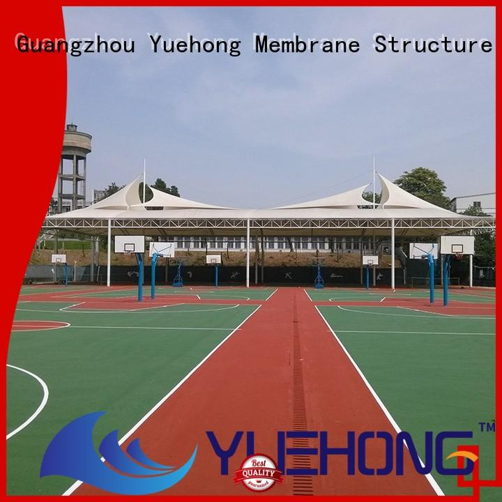 Yuehong swimming fabric shade structures factory price for badminton courts