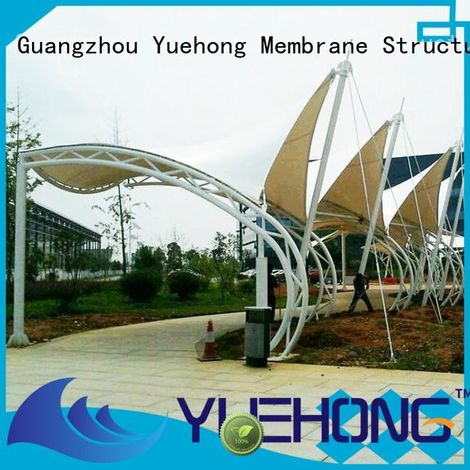 outdoor tensile structure design windproof factory price for landscapes
