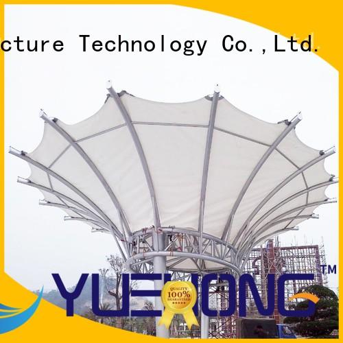 Yuehong durable tensile shade structure directly sale for city signs