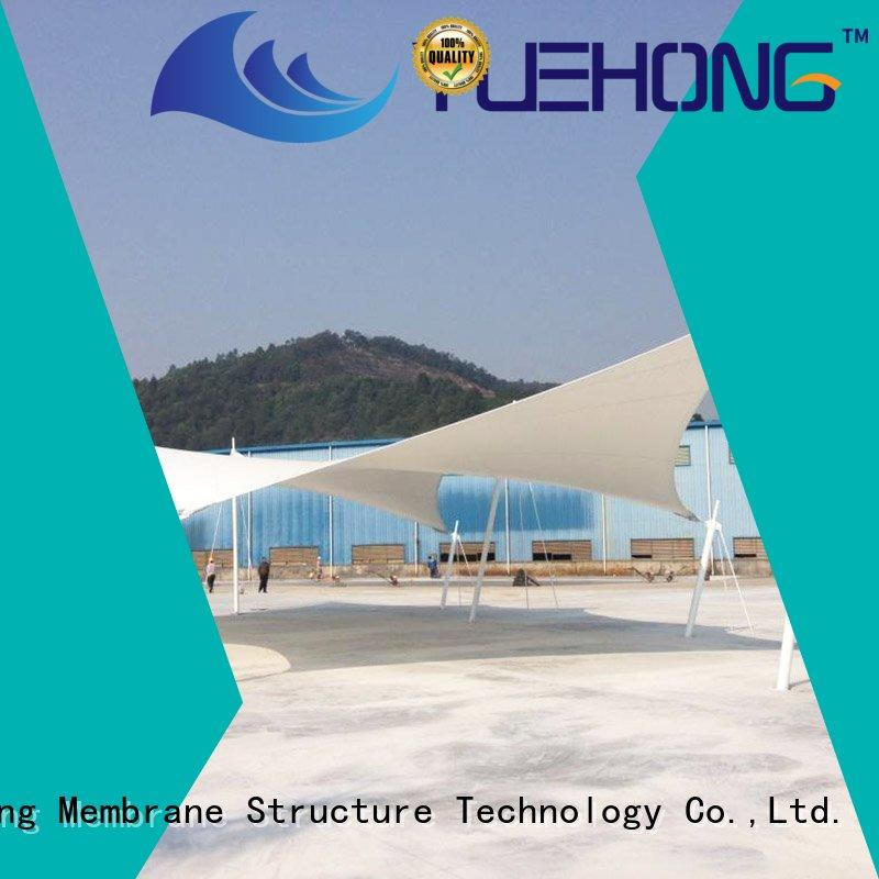 Yuehong high quality tensile shade structure large span for swimming pools