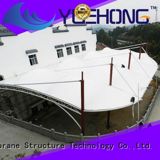 Yuehong high quality outdoor shade structures natural lighting for commercial streets