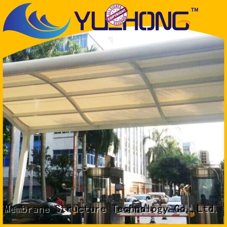sun-shaded car parking shed design pvdfptfeetfe parking shed for schools