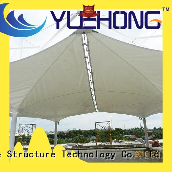 Yuehong tensile structure design high economy for swimming pools