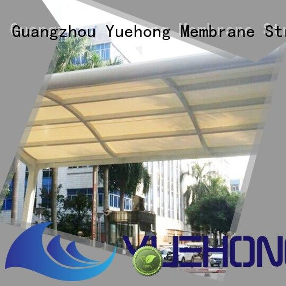 Yuehong stable car parking shed design shading for businesses