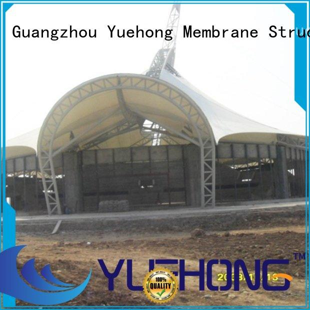 Yuehong court parking shade design on sale for volleyball courts