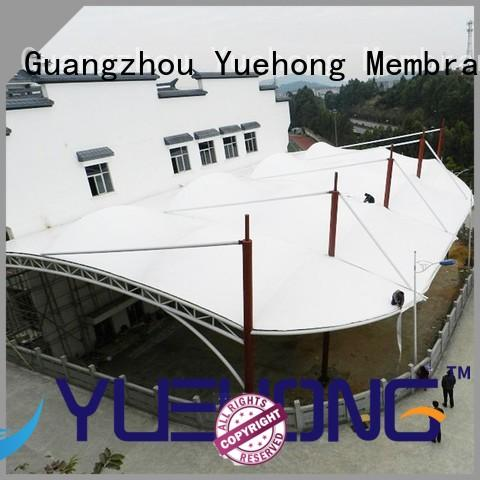 Yuehong tensile shade structure large span for gymnasiums