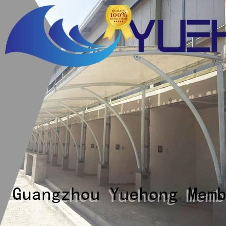 Yuehong strong tension fabric structure natural lighting for commercial streets