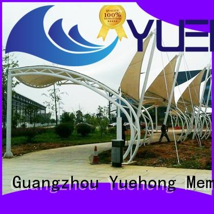 Yuehong outdoor fabric shade structures directly sale for pedestrian streets