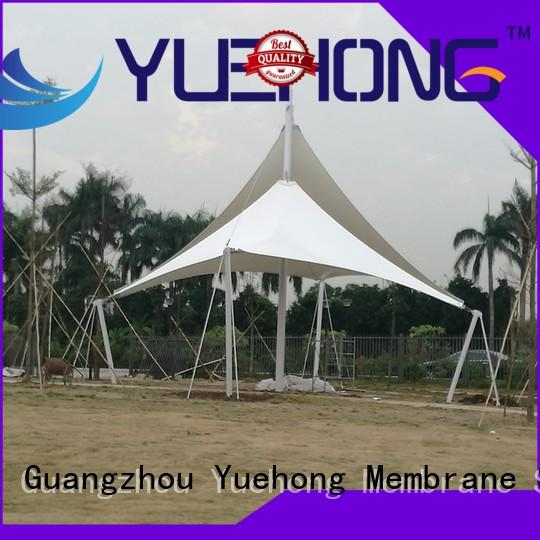 colorful tensile structure manufacturer awning good light transmission performance for natural ecological scenic spots