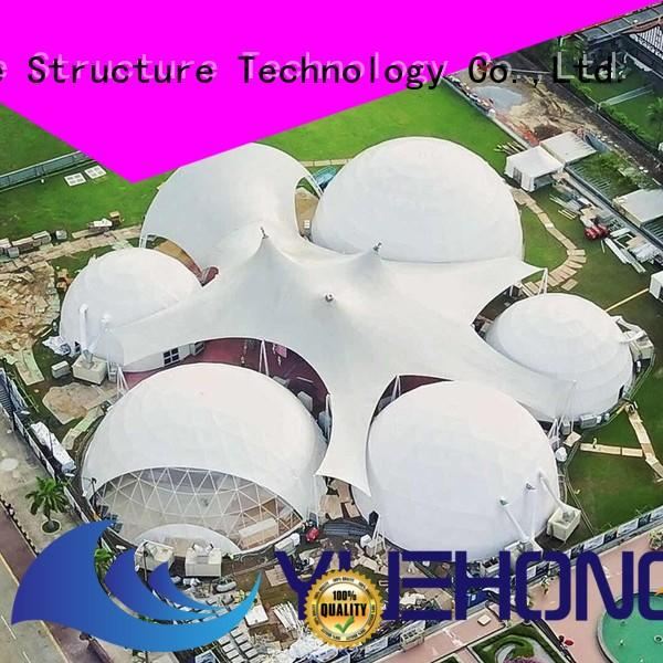 Yuehong etfe tensile structure design for leisure for landscapes