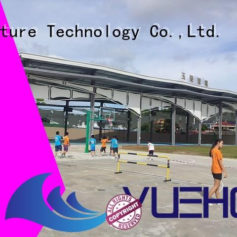 Yuehong ptfe fabric shade structures for badminton courts