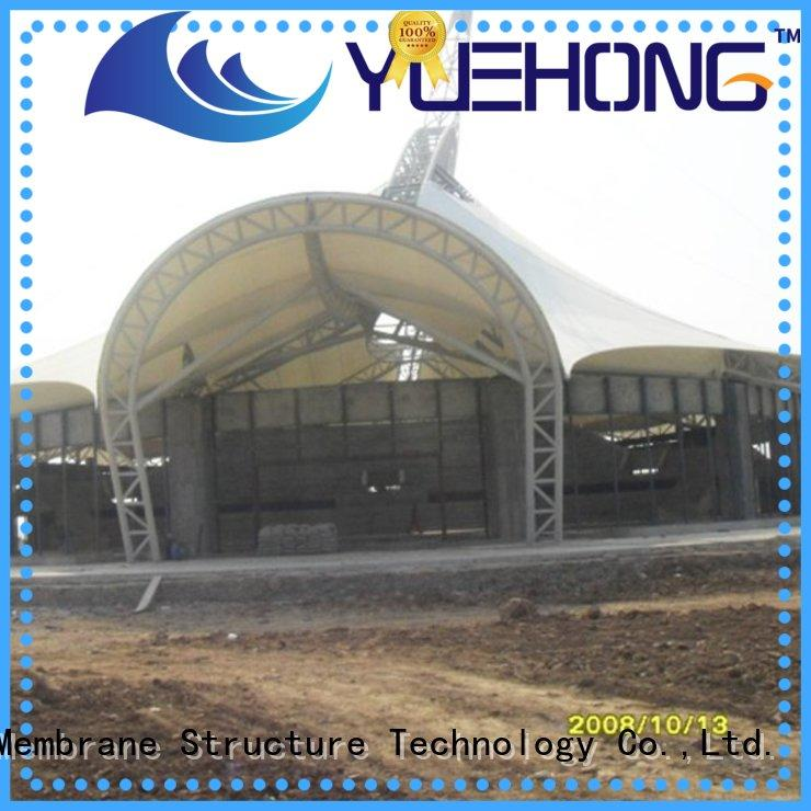 Yuehong steel fabric shade structures factory price for swimming pools