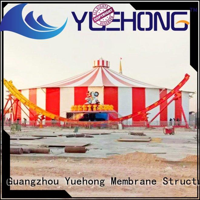 Yuehong tensile shade structure wholesale for commercial streets