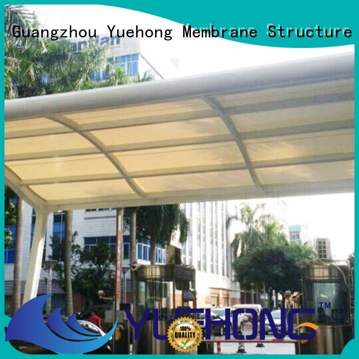 Yuehong sun-shaded car parking shade manufacturer for stadiums