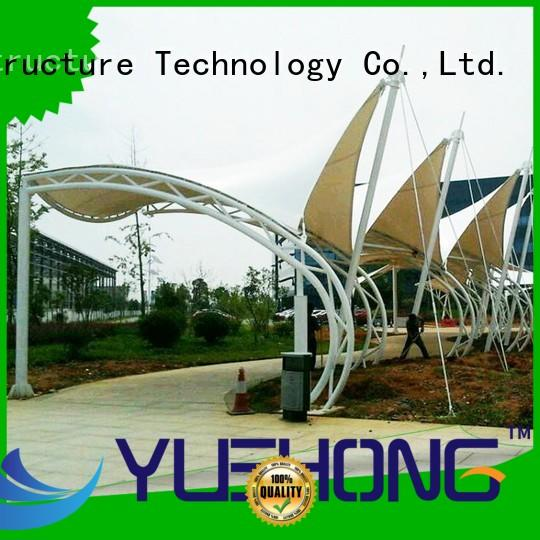 Yuehong durable outdoor shade structures stable structure for schools