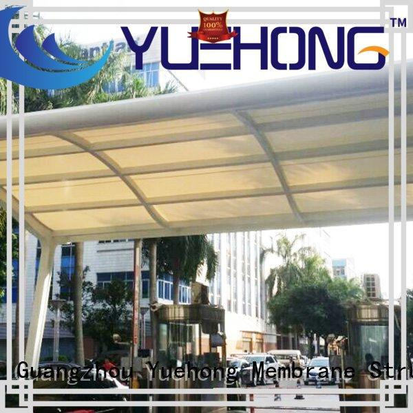 sun-shaded car parking shed design architecture steel parking shed for factories