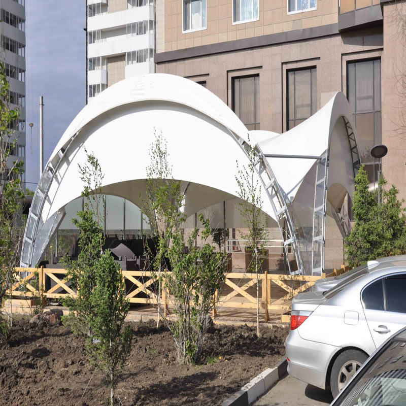 Outdoor Restaurant Tension Tent Film Structure