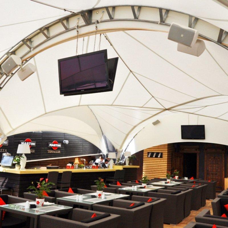 Outdoor Restaurant Tension Tent Film Structure