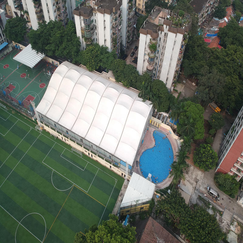 High tensile fabric pvdf architectural membrane structure canopy for swimming pool