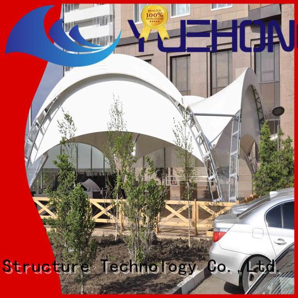 Yuehong colorful types of tensile structures shelter for landscapes
