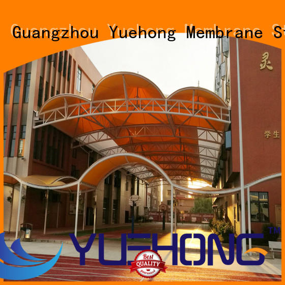 Yuehong luxury canopy structure design natural lighting for basketball courts