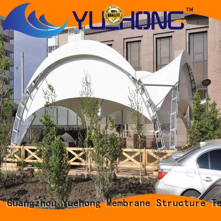 Yuehong colorful tension fabric structure stable structure for pedestrian streets